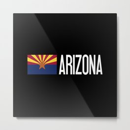 Arizona: Arizonan Flag & Arizona Metal Print