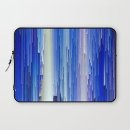 Frozen blue waterfall abstract digital painting Laptop Sleeve