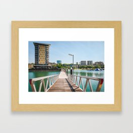 Scenic spot at Darwin Waterfront Wharf Framed Art Print