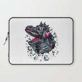 Arsenic Druck Dino with Headphones Laptop Sleeve