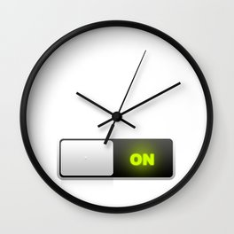 On button Wall Clock