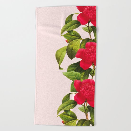 Botanical Light Kiss Beach Towel