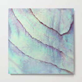 IRIDISCENT SEASHELL MINT by Monika Strigel Metal Print