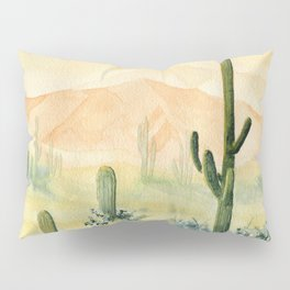 Desert Sunset Landscape Pillow Sham
