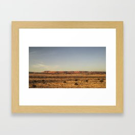 Cross Country Train Framed Art Print