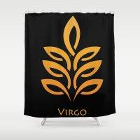 virgo Shower Curtains featuring Virgo by Groovyal