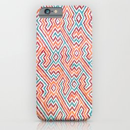 Song to Bring Vision & Insight - Traditional Shipibo Art - Indigenous Ayahuasca Patterns iPhone Case