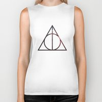 deathly hallows Biker Tanks featuring Deathly Hallows by Michal