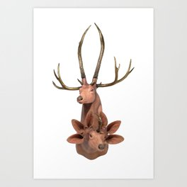 Trophy Head (7Horned6AuditoryMerged) Art Print