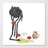 pasta Canvas Prints featuring Pasta by Gel Jamlang