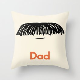 Dad Moustache Throw Pillow