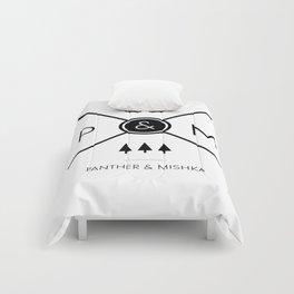 Panther & Mishka Logo Comforters