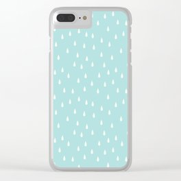 RAINDROPS DUCK EGG Clear iPhone Case