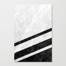 White Striped Marble Canvas Print