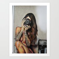 hello beautiful Art Prints featuring Hello Beautiful by Kim Morrow
