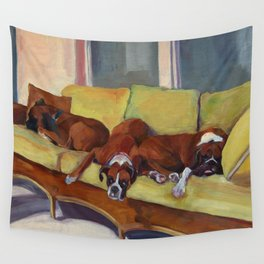 Boxer Dog Siesta Wall Tapestry