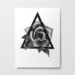 Rose Tattoo Design Metal Print