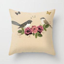 Song Bird 5 Throw Pillow