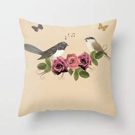 Song Bird 5 Throw Pillow
