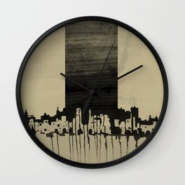 Skyscraper, architecture, city. Wall Clock