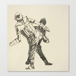 Tae Kwon Do Sparring Canvas Print