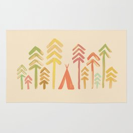 Tepee in the forest Rug