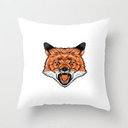 fox for people who like sensitive savages  Throw Pillow