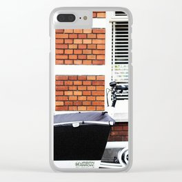 Amsterdam streets - Freight bicycles Clear iPhone Case