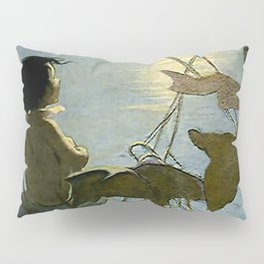 """Baby and the Moon"" by Jessie Willcox Smith Pillow Sham"