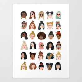 Girls Girls Girls Art Print