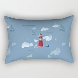 L for Lighthouse Rectangular Pillow