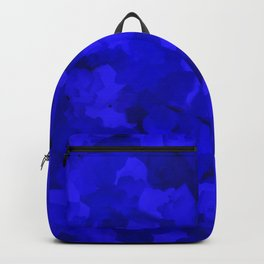 Rich Cobalt Blue Abstract Backpack