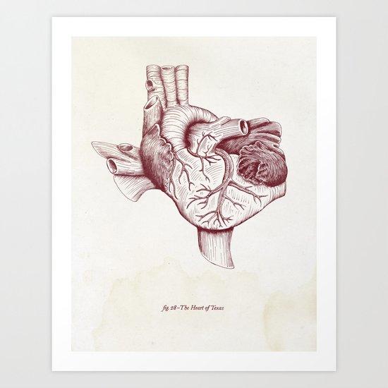 The Heart of Texas (A&M) Art Print