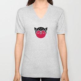 Owl Pattern Unisex V-Neck