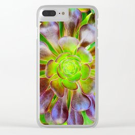 Natural Vortex Clear iPhone Case
