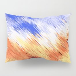 blue brown and white painting texture abstract background Pillow Sham