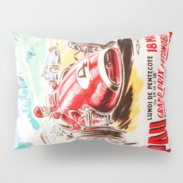Grand Prix Pau, vintage poster, car t-shirt, car poster Pillow Sham