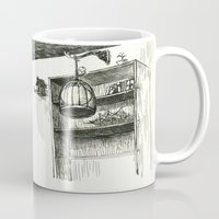 hunting Mugs featuring Moon Hunting by Nayoun Kim