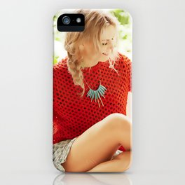 I'm trying to incorporate colour into my life. iPhone Case