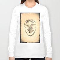 "hogwarts Long Sleeve T-shirts featuring HOGWARTS by ""CVogiatzi."
