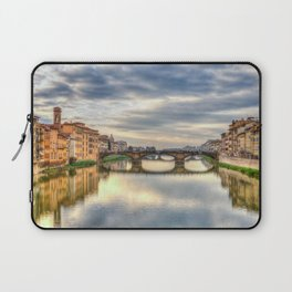 Arno River and Ponte Vecchio, Florence Laptop Sleeve