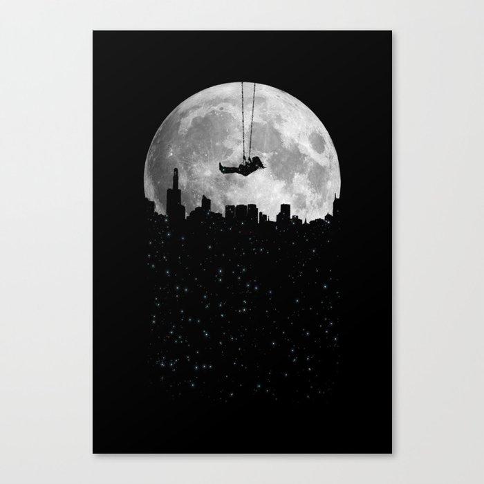 The Moon Swing Canvas Print