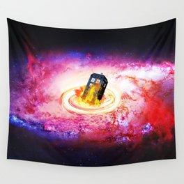 Tardis Black Hole Wall Tapestry