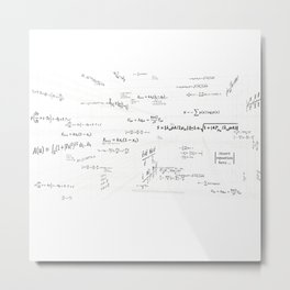 Mathspace - High Math Inspiration - Inverted Color Metal Print