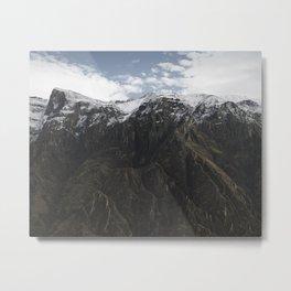 Colca Canyon Mountains Metal Print
