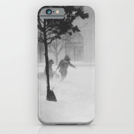 caught in a blizzard iPhone Case
