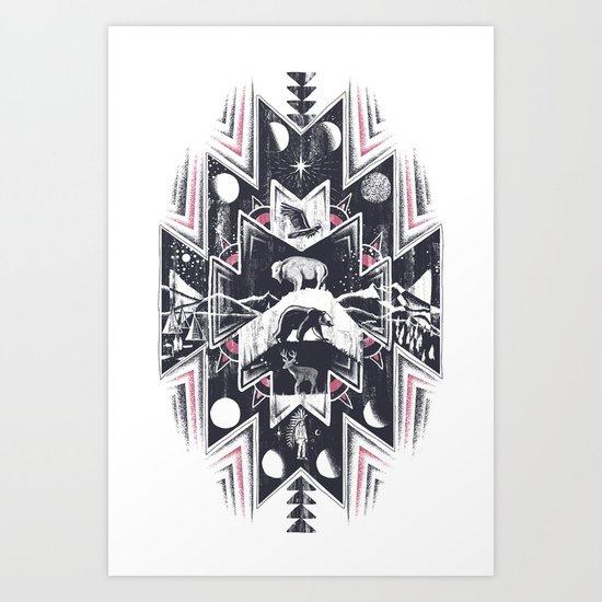 Phases (Light) Art Print