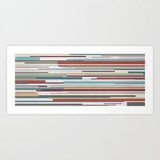 Geometric Rain Panoramic Art Print
