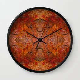Branches Aflame with Flower Wall Clock