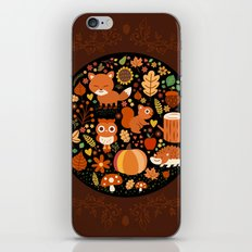 Autumn Party For Forest Friends iPhone Skin